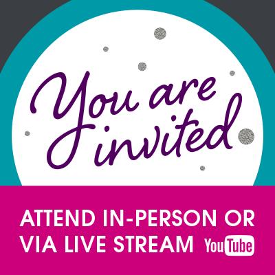 Attend In-Person or via Live Stream