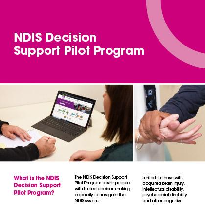 NDIS Decision Support Pilot Program