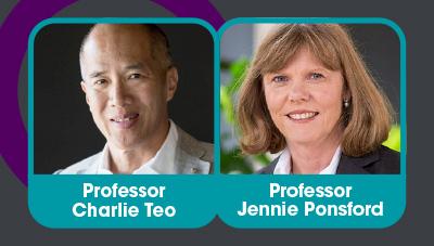 Keynote speakers Professor Charlie Teo and Professor Jennie Ponsford